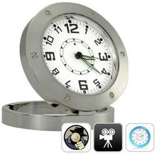 Ceas spion HDCLOCK DVR520