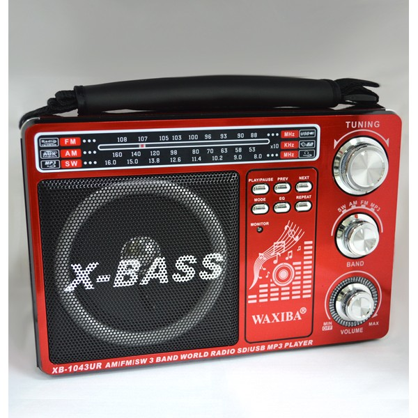 Radio portabil cu benzi FM-AM-SW si MP3 player WAXIBA XB-1043UR