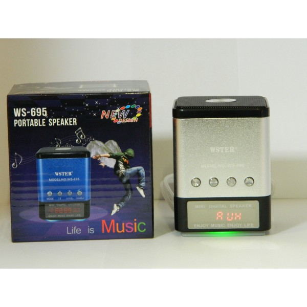 Mini Boxa Portabila Cu MP3 Player si Radio Fm - Slot card si USB WS-695