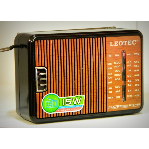 Radio portabil Leotec LT-607B World Receveir