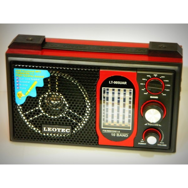Radio MP3 portabil Leotec LT-905UAR World Receveir