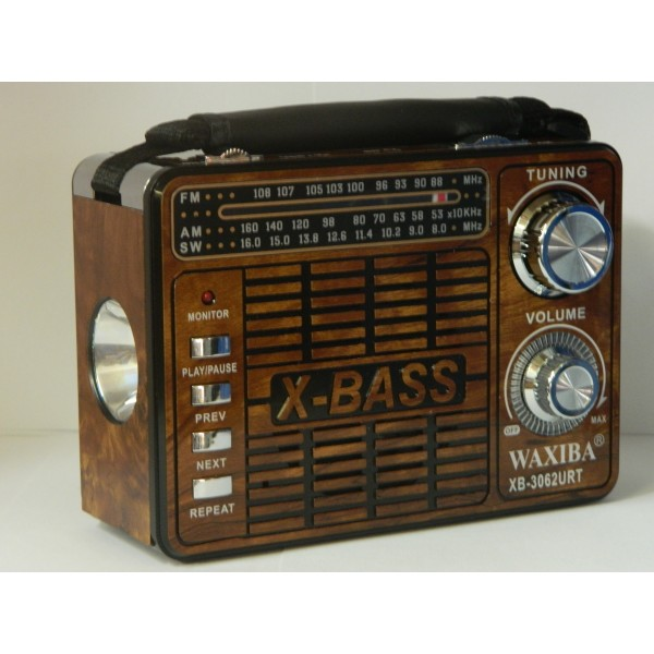 Radio portabil cu lanterna si MP3 player WAXIBA XB-3062URT
