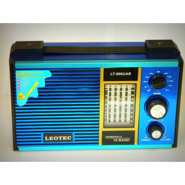 Radio MP3 portabil Leotec LT-906UAR World Receveir