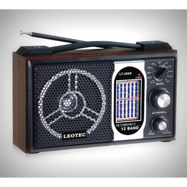Radio portabil Leotec LT-2008, model retro