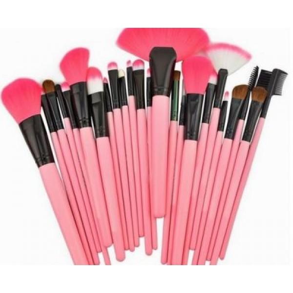 Set 24 Pensule Roz Make Up