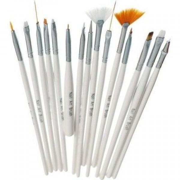 Set 15 pensule pentru acryl si gel