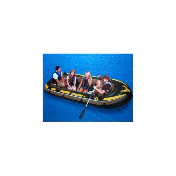 Barca gonflabila Seahawk de 4 persoane Intex