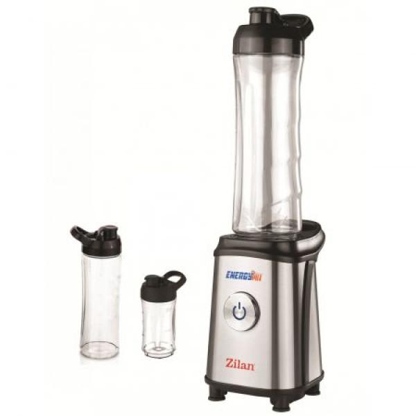 Blender inox pentru smoothieZLN-0504, 350 W, 3 recipiente