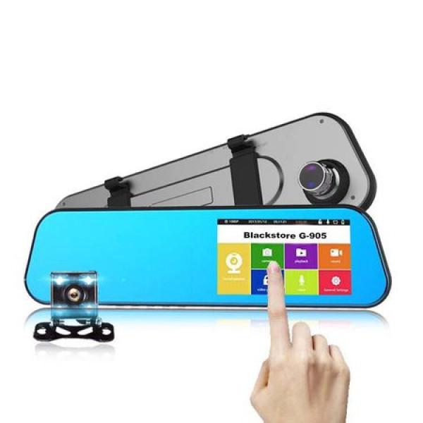 Camera Auto Dubla Tip Oglinda cu TouchScreen