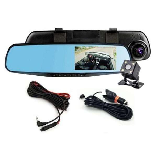 Camera auto DVR incorporata in oglinda retrovizoare, dubla(fata/spate)