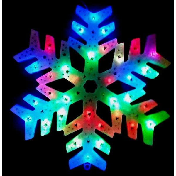 Decoratiune Luminoasa de Craciun Fulg de Nea