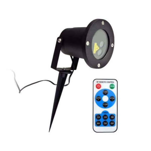 Proiector Laser LED Model Star Motion Shower cu Efecte de Lumini Miscatoare si Telecomanda, 3D Ambiental Interior/Exterior