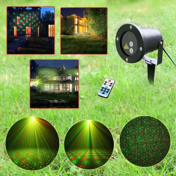 Laser pentru Exterior tip Star Shower Motion cu Senzor, Telecomanda si Timer