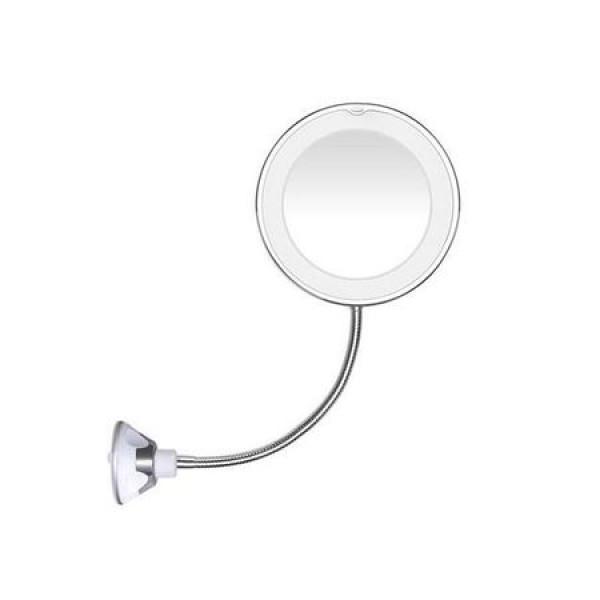 Oglinda flexibila cu ventuza, marire x10 si LED