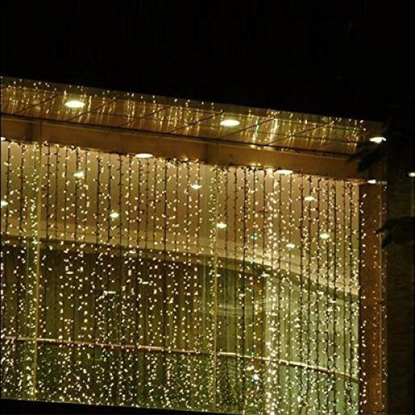 Instalatie Exterior cu Lumina Calda 800 Led-uri 2m x 2,5 m