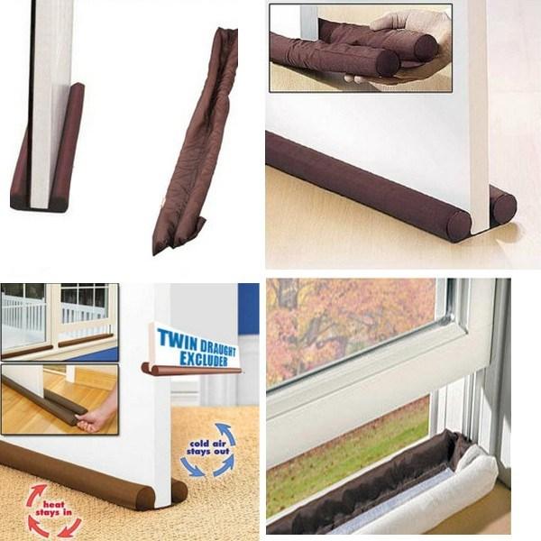 Perna dubla anti-curent pentru usa si fereastra