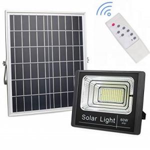 Proiector 60W cu panou solar si telecomanda cu functii multiple