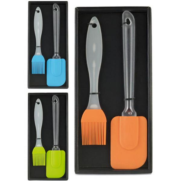 Set pensula si spatula din silicon pentru bucatarie