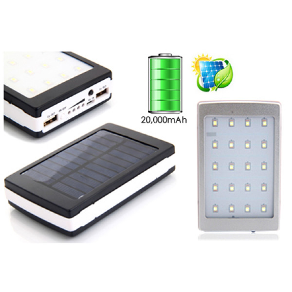 Power Bank solar cu lanterna