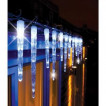 Instalatie cu Turturi luminosi 50 cm Albi