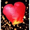 Lampion zburator in forma de inima