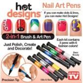Set oja si pensule decorare unghii Hot Designs
