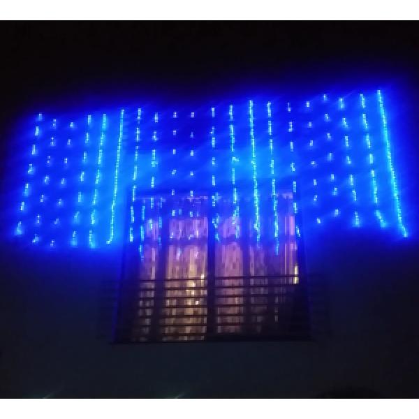 Instalatie Perdea digitala pentru Craciun 900 LEDuri 2.5x3 m
