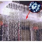 Instalatie Perdea Luminoasa pentru Craciun Alba 3200 LEDuri