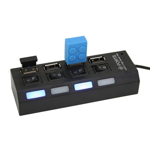 Hub 4 porturi USB cu BUTON ON/OFF