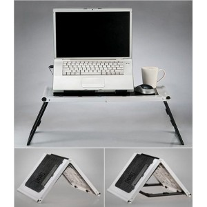 Masuta Laptop cu Cooler, Suport Pahar & Mouse Pad Inclus - super table