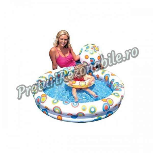 Set Piscina, Colac si Minge Gonflabile Intex 59460