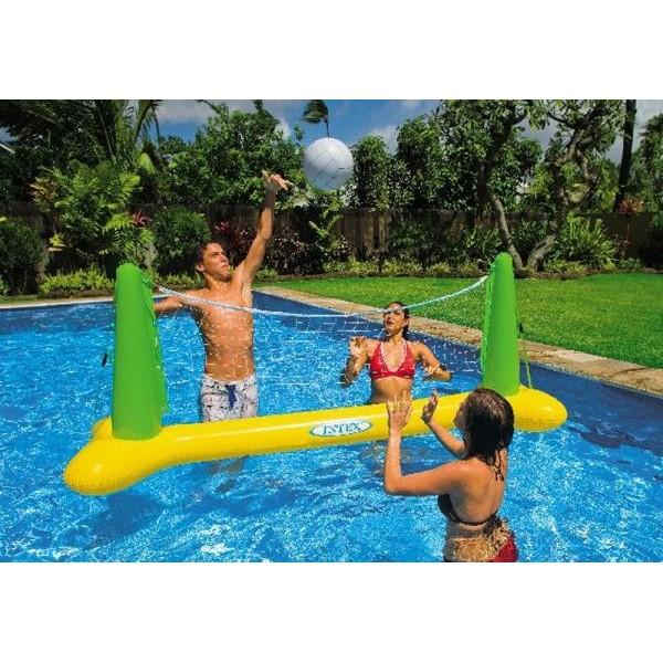 Set gonflabil de volley pentru piscina - Red voley piscina ...