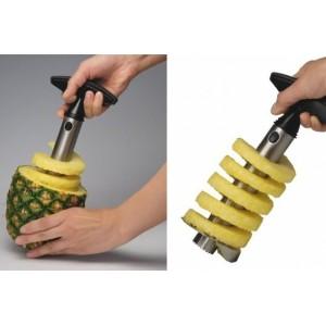Dispozitiv pentru taiat si decojit ananas