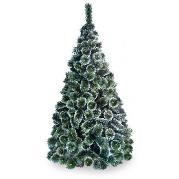 Brad artificial pin bogat cu spice albe la 120 cm