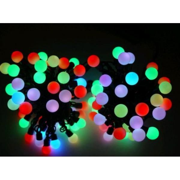 Instalatie Sir de lumini pentru Craciun cu becuri mari