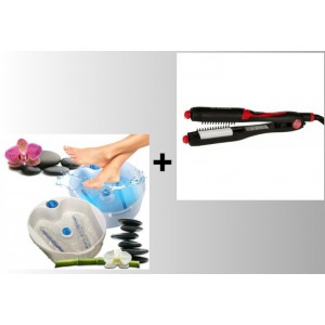 Set Cadita Bubble Massage + Placa creponat parul