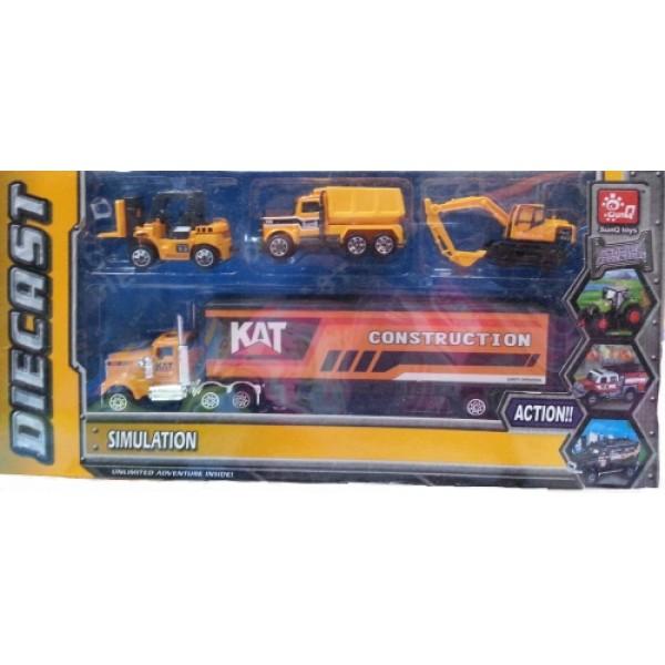 Set masini constructie Diecast pentru copii