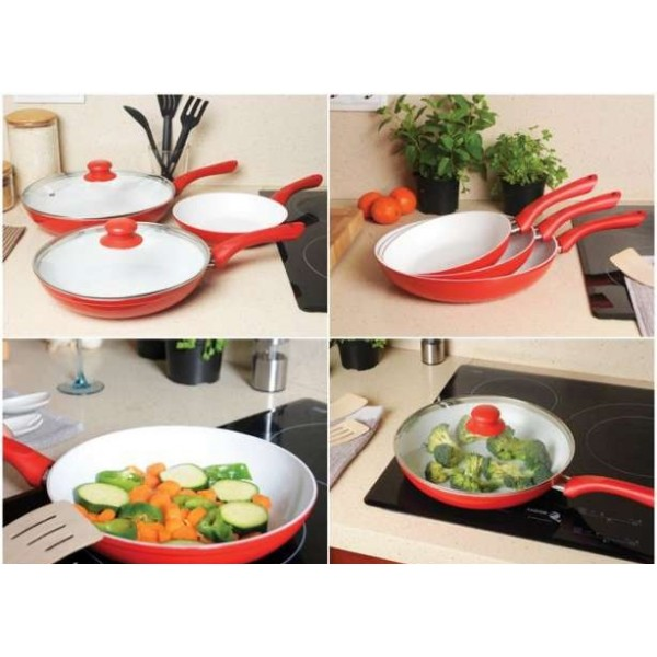 Set 3 Tigai ceramice Ceramic Pan